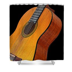 Acoustic Guitar Shower Curtain by Gill Billington