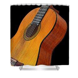 Acoustic Guitar Shower Curtain