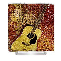 Acoustic Guitar Shower Curtain by Jack Zulli
