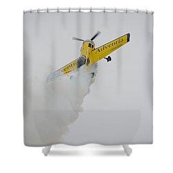 Aerobatics At Cuatro Vientos II Shower Curtain