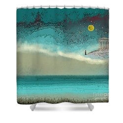 Acropolis In Moonlight Shower Curtain