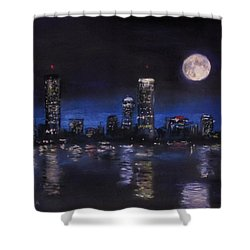 Across The Charles At Night Shower Curtain by Jack Skinner