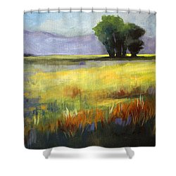 Across The Field Shower Curtain