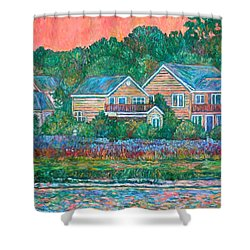 Shower Curtain featuring the painting Across The Marsh At Pawleys Island       by Kendall Kessler