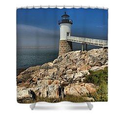 Across The Seas Shower Curtain by Adam Jewell