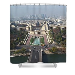 Shower Curtain featuring the photograph Across The Seine by Barbara McDevitt