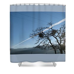 Shower Curtain featuring the photograph Across The Valley And Through The Trees by Brooks Garten Hauschild