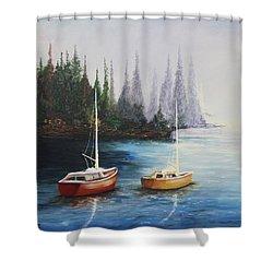 Acrylic Msc 110  Shower Curtain