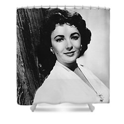 Actress Elizabeth Taylor Shower Curtain by Underwood Archives