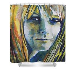 Actress Gwyneth Paltrow Shower Curtain by Chrisann Ellis
