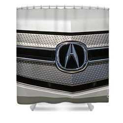 Acura Grill Emblem Close Up Shower Curtain
