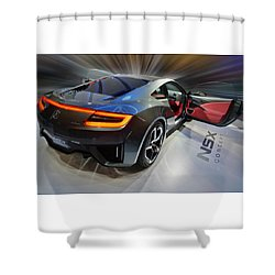Acura N S X  Concept 2013 Shower Curtain