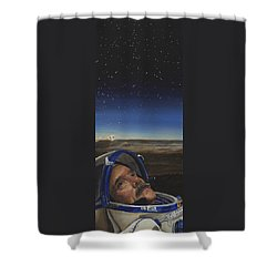 Ad Astra - Col. Chris Hadfield Shower Curtain by Simon Kregar