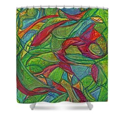 Adapt Or Perish Shower Curtain by Kelly K H B