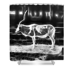 Addax Spirit Of The Desert Shower Curtain by Miroslava Jurcik