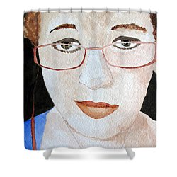Shower Curtain featuring the painting Addie Two by Sandy McIntire