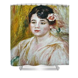 Adele Besson Shower Curtain by Pierre-Auguste Renoir