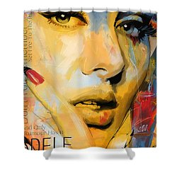 Adele Shower Curtain by Corporate Art Task Force