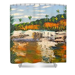 Adele Gorge At Lawn Hill National Park Shower Curtain