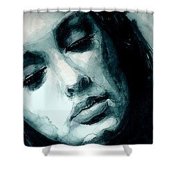 Adele In Watercolor Shower Curtain