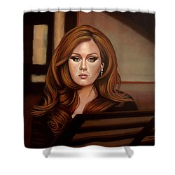 Adele Shower Curtain by Paul Meijering