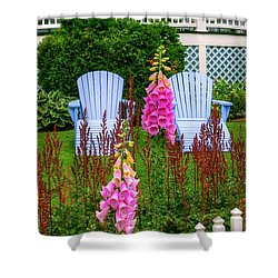 Adirondack Garden Shower Curtain