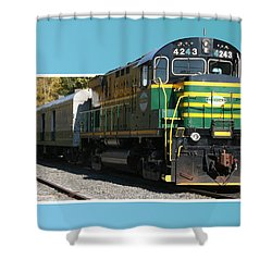 Adirondack Railroad Shower Curtain
