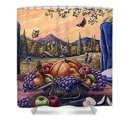 Admirals Harvest Shower Curtain