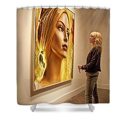 Admiring Beauty Shower Curtain