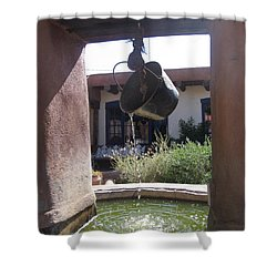 Shower Curtain featuring the photograph Adobe Water Well In New Mexico by Dora Sofia Caputo Photographic Art and Design