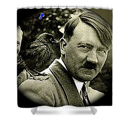 Adolf Hitler And A Feathered Friend C.1941-2008 Shower Curtain by David Lee Guss