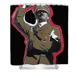 Adolf Hitler Saluting 2 Circa 1933-2009 Shower Curtain by David Lee Guss