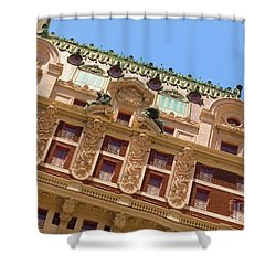 Shower Curtain featuring the photograph Adolphus Hotel - Dallas #1 by Robert ONeil