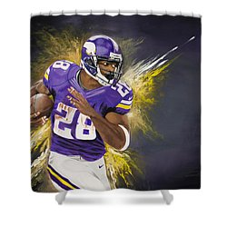 Adrian Peterson Shower Curtain