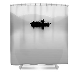 Adrift Shower Curtain by Aaron Aldrich