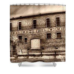 Adluh Flour Sc Shower Curtain by Skip Willits