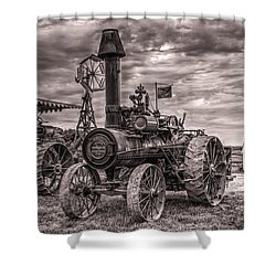 Advance Steam Traction Engine Shower Curtain