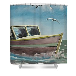 Adventure  Shower Curtain by Marcel Quesnel