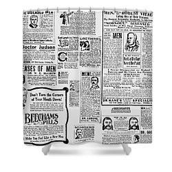 Advert - Edwardian Mens Health Shower Curtain