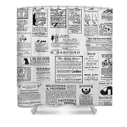 Advert - For The Ladies Shower Curtain