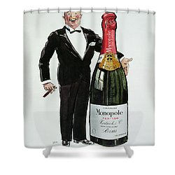 Advertisement For Heidsieck Champagne Shower Curtain by Sem