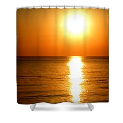 Shower Curtain featuring the photograph Aegean Sunset by Micki Findlay