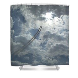 Aerial Display 2 Shower Curtain