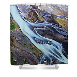 Aerial Photo Of Iceland  Shower Curtain
