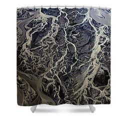 Aerial Photography Shower Curtain by Gunnar Orn Arnason