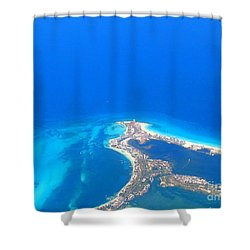 Aerial View Of Cancun Shower Curtain by Patti Whitten
