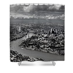 Aerial View Of London 4 Shower Curtain by Mark Rogan