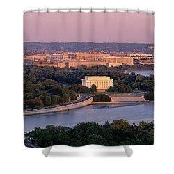 Aerial, Washington Dc, District Of Shower Curtain