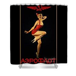 Aeroflot Shower Curtain by Cinema Photography
