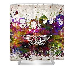 Aerosmith In Color Shower Curtain